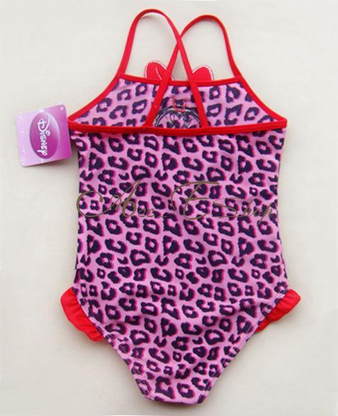 Leopard Minnie Mouse Girls SIZE 2 7Y Swimsuit Swimwear Swim Costume