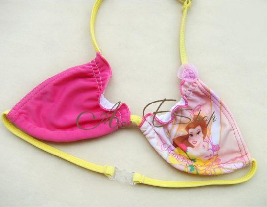 Girls Princess Bikini 2 PC Swimsuit Swimwear Bathing Suit Swim Costume 1 10Y
