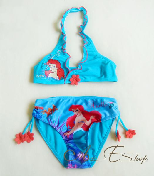 Girls Kids Princess Ariel Mermaid Swimsuit Swimming Costume Tankini