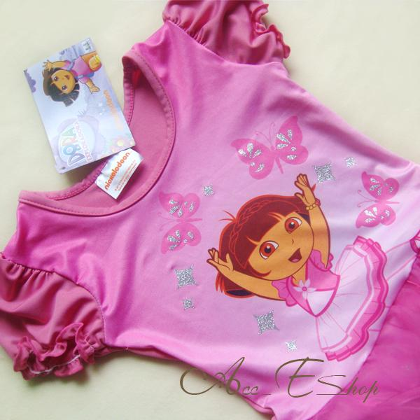 Dora The Explorer Girls Ballet Dance Leotard Costume Dress Fairy Tutu Skirt 3 7Y