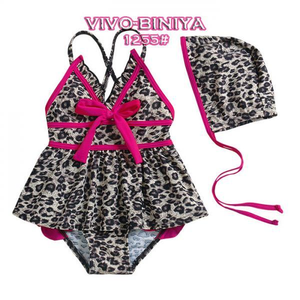 Girls Kids Leopard Swimsuit Sz 2 6Y Swimwear Tankini Swimming Costume Beachwear