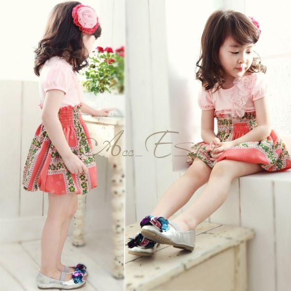 Chic Girls Kid Summer Floral Party Dress Sz 2 6 Y Kids One Piece Baby Clothes