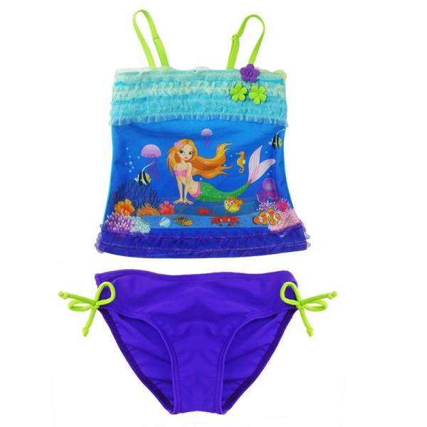 Girl Kids Princess Ariel Mermaid Swimsuit 2pcs Tankini Swimming Costume Sz 2 8 Y