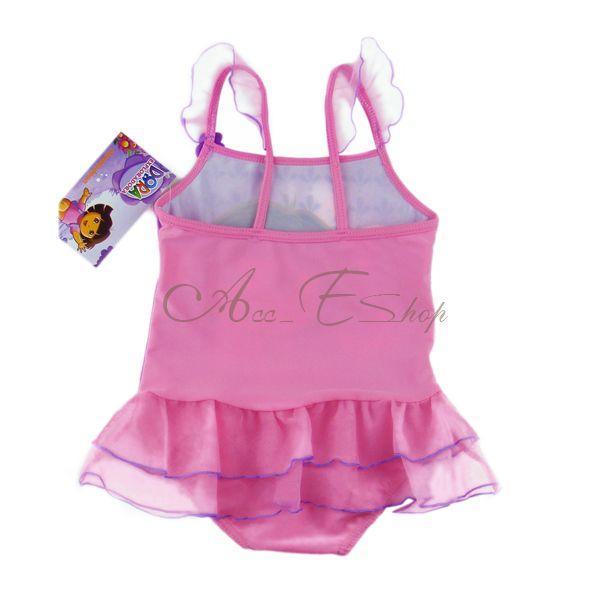 Girl Princess Dora Baby Tutu Swimsuit Swimwear Swimming Costume Bathers Sz 1 4 Y