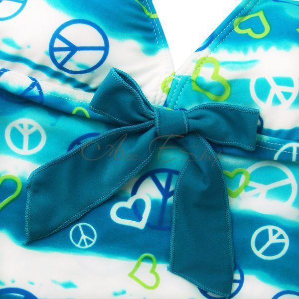 Girls Halter Tankini Swimsuit Swimwear Swimming Costume Bathing Ages 8 10 12 14