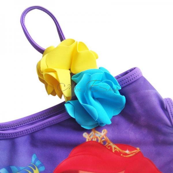 Girl Kid Barbie Mermaid Monokini Swimsuit Swimwear Bather Swimming Costume 4 8 Y