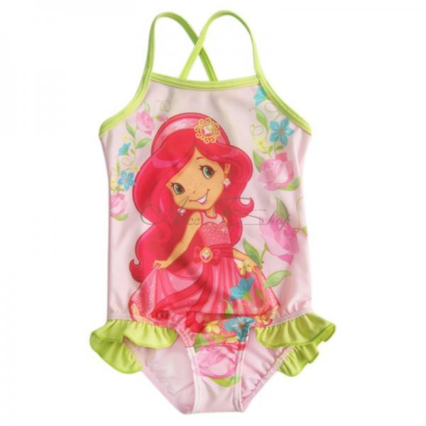 Girls Kids Strawberry Swimsuit Swimwear Bathing Suit Swimming Costume 2 8 Years