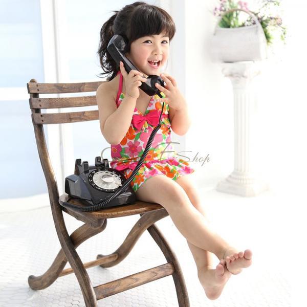 Girl Kid Floral Halter Tankini Swimsuit Swimwear Surfing Costume Swimwear Sz 5 9