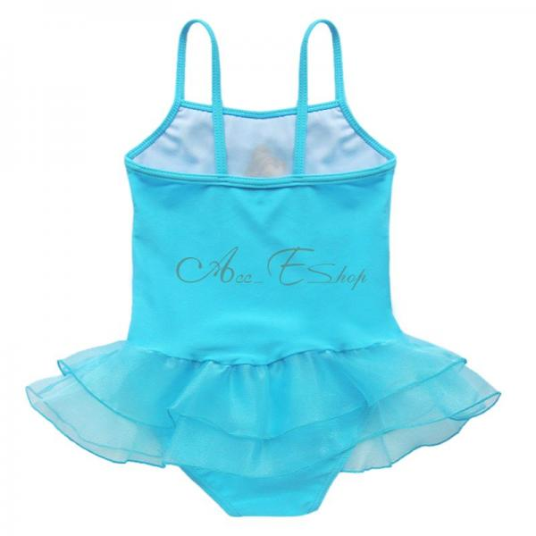 Girls Princess Tutu Swimsuit Swimwear One Piece Bathing Suit Swim Costume Sz 2 8