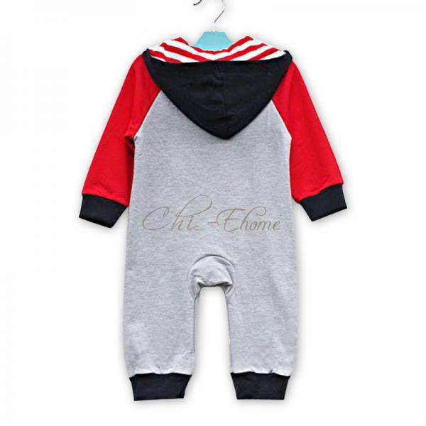 Baby Unisex I Love Mom Dad Boy Girl Cute Hoodie Bodysuit Romper Clothes 0 1 2