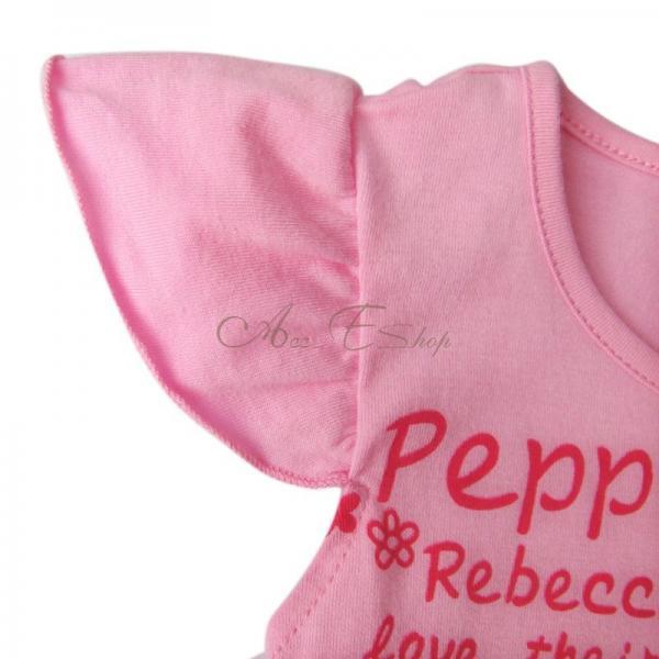 Sz 1 6 Peppa Pig Girls Short Sleeve Party Top Dress Pink Ruffle Tutu Skirt