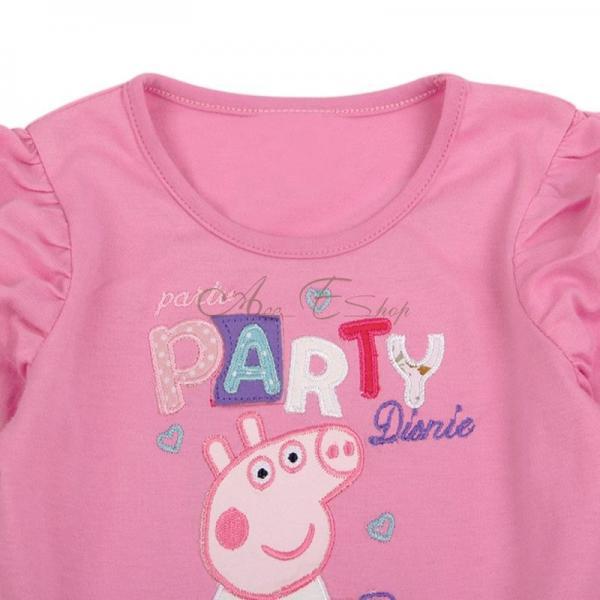 Peppa Pig Girls Bubble Sleeve Party Dress Bowknot Tulle Tutu Skirt 18 24M