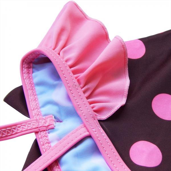 Polka Dots Girls Kids One Piece Tutu Skirt Swimsuit Swimwear Bathing Suit Sz 2 6