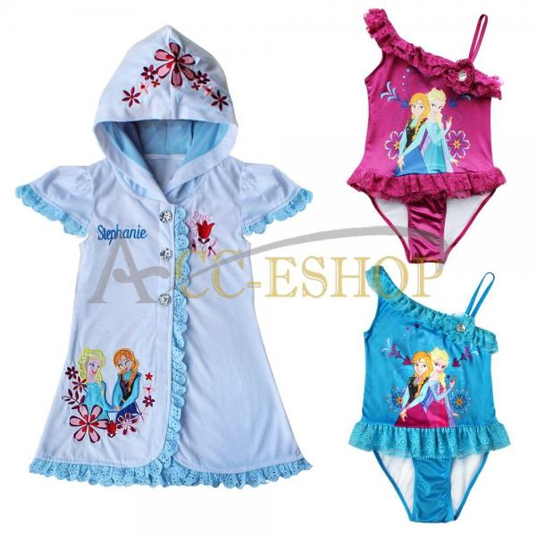 Frozen Princess Elsa Anna Swim Bathing Suit Girls Cover Up
