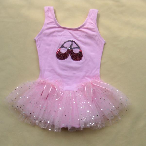 Pink Dance Leotard Ballet Tutu Girls Dress sz2 3 4 5 6T