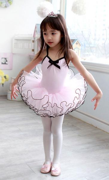 Girls Pink Ballet Tutu Dance Party Leotard Dress 3 8Y