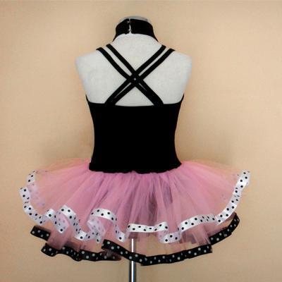 Girls Pink Black Leotard Ballet Tutu Dance Dress sz2 3T