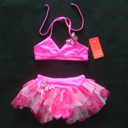 Pink Girl Swimsuit Swimwear Bathers Tutu Bikini Sz 4 5T