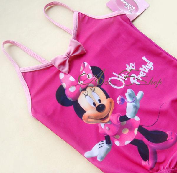 Disney Minnie Mouse Girls Swimsuit Swimwear Bathing Suit Tankini Bikini Sz 5 6Y