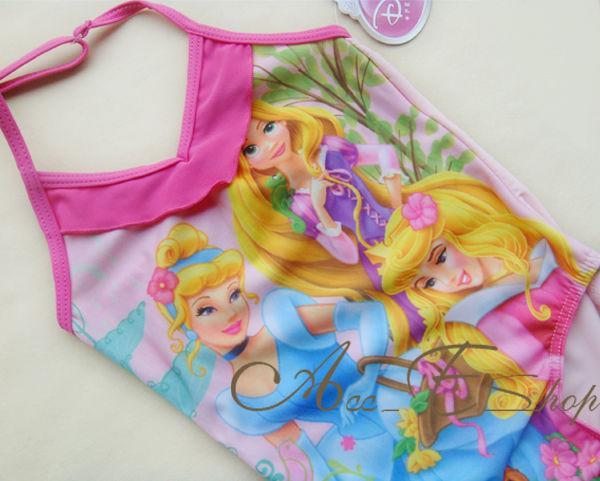 Girls Size 2 6 Princess Swimsuit Swimwear Bathing Suit Tankini Swimming Costume