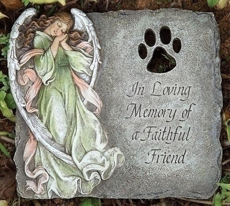 Angel Pet Paw Stepping Stone Memorial Garden Decor