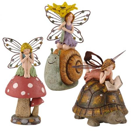 Reading Fairy Garden Statue Enchanted Lawn Decor Ebay: reading fairy garden statue