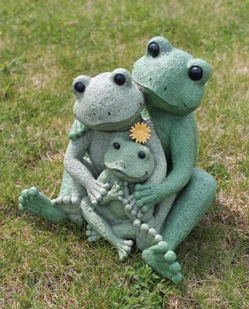 Outdoor Garden Decor Frogs Photograph Loving Frog Family G