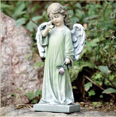 Weeping garden angel memorial grave cemetery statue ebay - Angel statue for garden ...