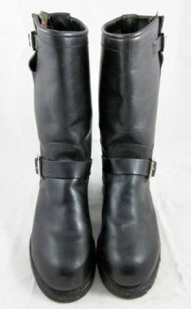 Vintage HERMAN SANTA ROSA ENGINEER MOTORCYCLE BOOTS Biltrite Steel Toe