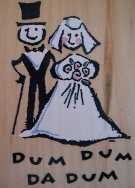 All Night Media Wedding Rubber Stamp Quot Dum Dum Da Dum Quot Ebay