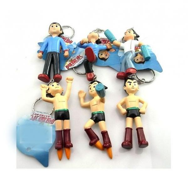 ASTRO BOY COOL KEYCHAIN FIGURE LOT OF 6 NEW Figurines Toy