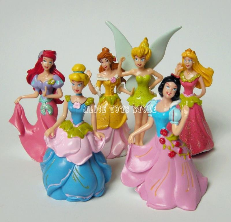 Disney Princess Snow White Cinderella cake topper Figures Toy Set of