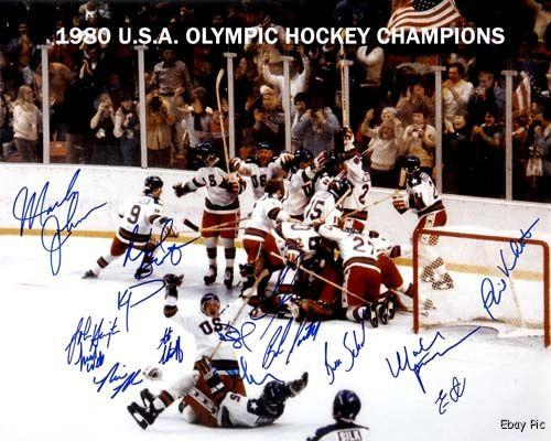 Details about 1980 usa olympic hockey team signed 8x10 photo mint