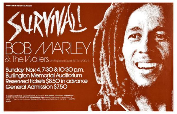 1970s Bob Marley Amp Wailers Survival Concert Poster Ebay