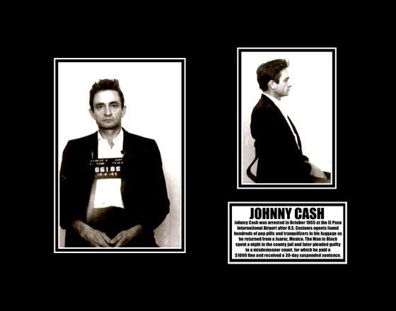 1960s johnny cash mug shot arrest photo poster man in black ebay. Black Bedroom Furniture Sets. Home Design Ideas