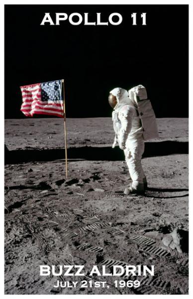 1969 BUZZ ALDRIN *APOLLO 11* MOON WALK PHOTO POSTER   eBay