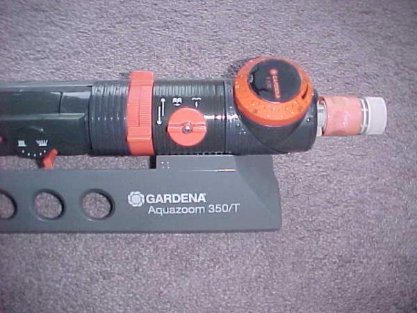 Gardena aquazoom t oscillating sprinkler irrigate