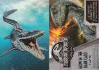 2018 JURASSIC WORLD FALLEN KINGDOM TRADING CARD SINGLE HEAT N REVEAL CARD #7
