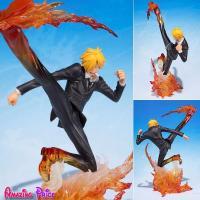 Japanese One Piece Sanji Figure Jouet Diable Jambe Premier Hache Battle ROP214