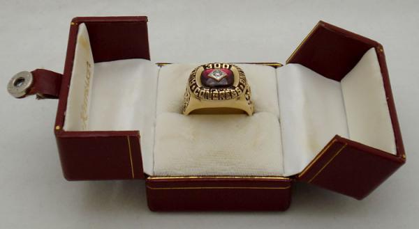 MENS ABC 300 GAME 14 K YELLOW GOLD DIAMOND RING~SIZE 12