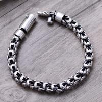"""22cm 8mm 8.7/"""" 925 Sterling Silver men/'s DRAGON biker bracelet jewelry"""