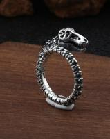 Sterling Silver High Polished Stegosaurus Dinosaur Ring