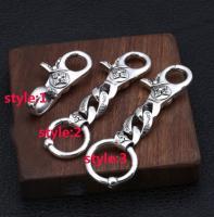 925 Sterling Silver Round keyring key ring keychain accessory DIY S2862