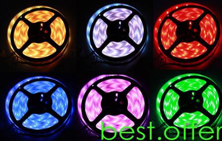 BF 10M RGB Flash 5050 SMD LED Strip Light Bulb + Remote
