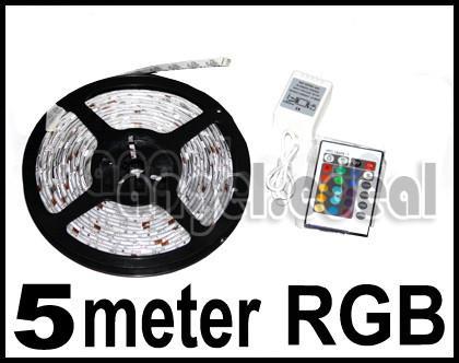 5x J 5M 500cm RGB Flash 5050 LED Strip Light + IR Remote