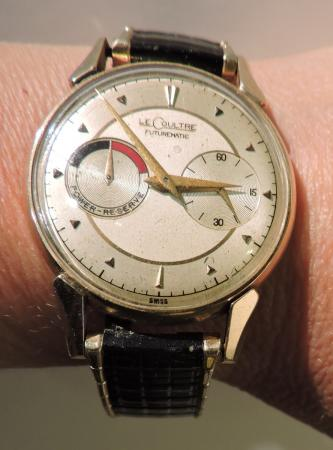 1953 vintage jaeger lecoultre futurematic 14k automatic mens watch power reserve for Jaeger lecoultre kinetic