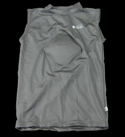 Baseball Heart Gard Protective Body Shirts Gray Chest