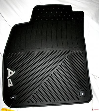 2004 audi a4 cabriolet factory rubber floor mats set. Black Bedroom Furniture Sets. Home Design Ideas