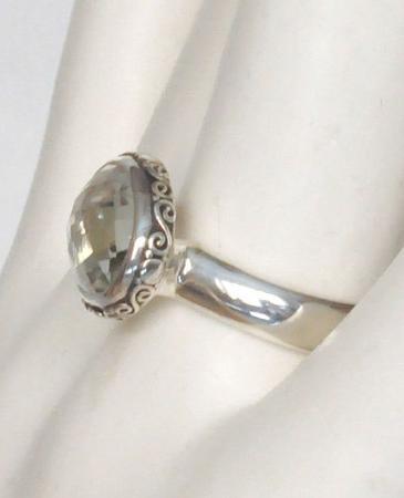 Janice Girardi Ring Silver With Green Stone