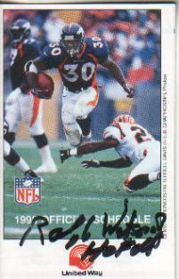 Ralph Wilson Autographed 1988 NFL Football Schedule Bills Owner HOF